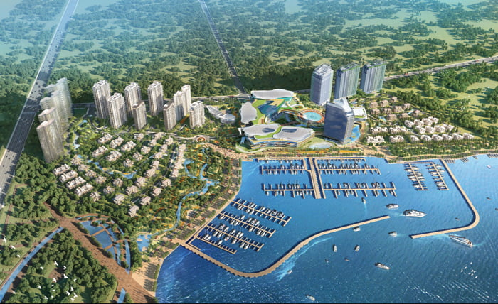 Tangdao Bay Qingdao, China Marina Aerial view