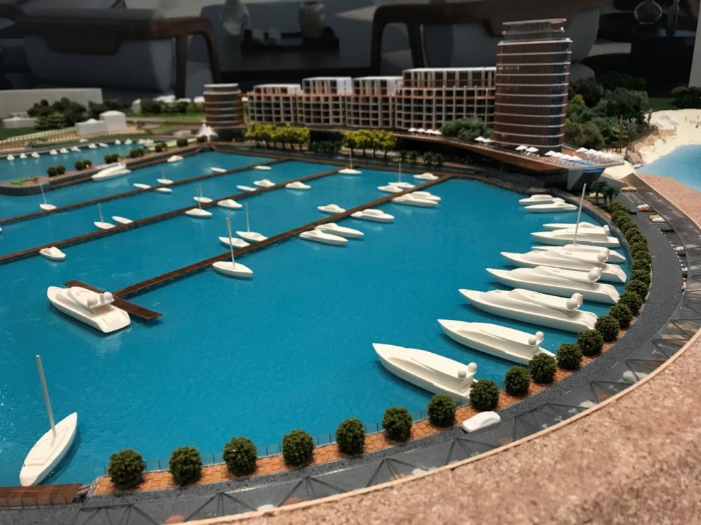 Architectural model of Paralimni Marina waterfront