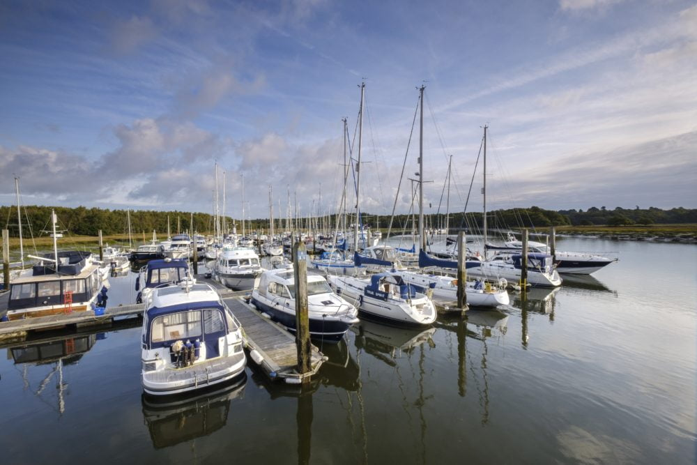 Berthing at Buckler's Hard Yacht Harbour