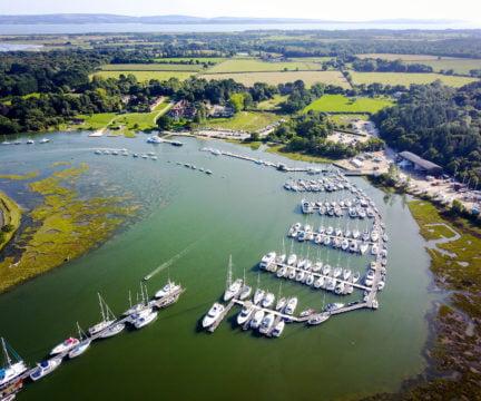 Beaulieu River aerial view