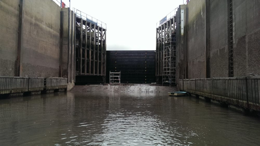Inside the Sea Lock at Whitehaven Marina