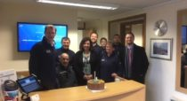 Dan McKiernan and JWD staff celebrate 1 year anniversary