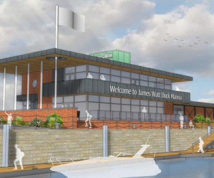 James Watt Dock Marina development