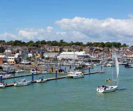 Cowes Outer Harbour, Isle of Wight, UK