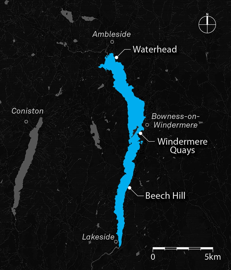 Lake Windermere Map